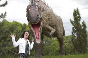 Being silly at Eccles Dinosaur Park -- This place is a blast for the whole family!