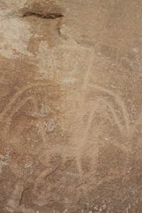 One of the many petroglyphs at McConkie Ranch