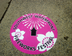 Sign for Fireworks Festival