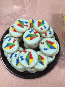 Kite cookies at Red Jacket Community Library